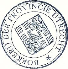 Eigendomsstempel bibliotheek van de provincie Utrecht