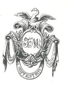 exlibris Luther-collectie Isaac Meulman (1807-1868), die verzaelde op het gebied van de geschiedenis der kerkhervorming. na zijn dood aangekocht door de Lutherse Gemeente te Amsterdam en opgenomen in de U.B. Meulmans rijke pamflettenverzameling ging naar de UB-Gent