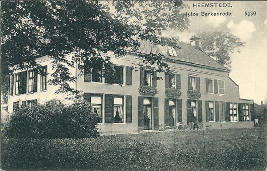 Huize Berkenrode op een ansichtkaart uit de periode van bewoning door de familie Bomans