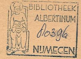 Stempel Bibliotheek Albertinum (paters Dominicanen) in Nijmegen