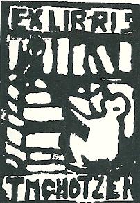Exlibris Thomas (eigenlijk Theodor max) Chotzen (1901-1945) Boekerij op het gebied van de Keltologie