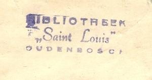 Stempel bibliotheek Broeders Saint Louis, Oudenbosch