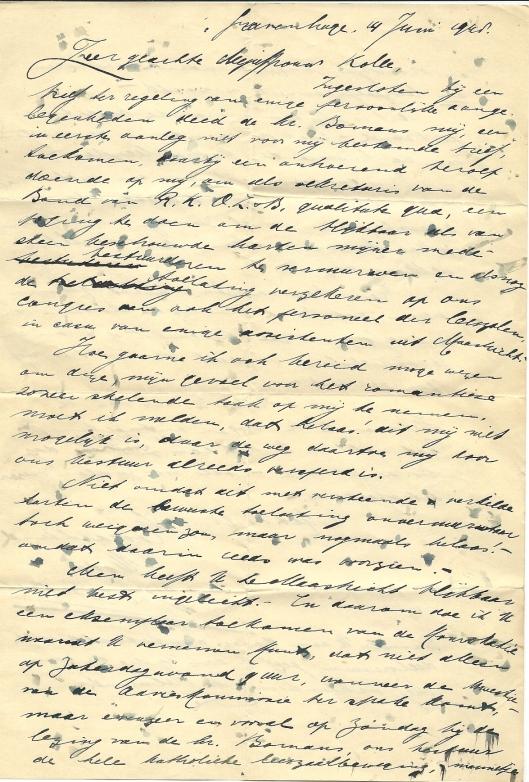Brief van S.J.Robitsch aan mej. Kolle de dato 14 juni 1948 (1)