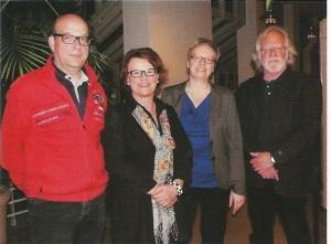 Der neue Vorstand seit 2013 Städtpartnerschaftsverein Bad Pyrmont e.V. Mot von links nach rechts: Peter Middel, Marianne Wiland (Vorsitzende), Sabine Spiegel und Rudi Rudolph.