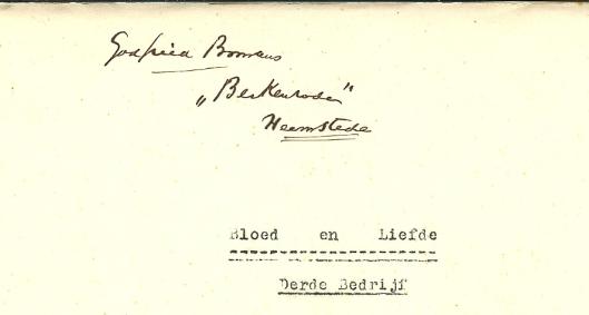 In de Bomans-collectie van het N.H.Archief bevinden zich de originele teksten van Bloed en Liefde in 3 bedrijven van Godried Bomans