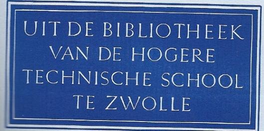 Bibliotheek Hogere Technische School Zwolle, ontworpen door M.Pot-van Regteren Altena
