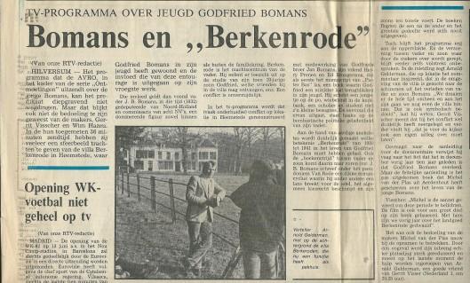 Bericht uit het Haarlems Dagblad van 5 april 1982