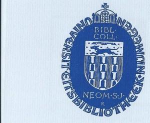 Exlibrus Universiteitsbibliotheek Nijmegen. Ontwerper: Pam Rueter