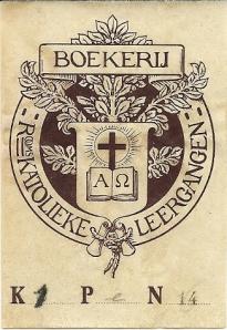 Boekerij katholieke Leergangen Tilburg