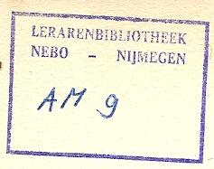 Lerarenbibliotheek Nebo - Nijmegen (stempel)