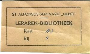 St. Alphonsus-seminarie 'Nebo', leraren-bibliotheek, Nijmegen