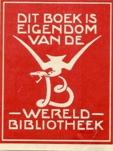 Exlibris van uitgeverij Wereldbibliotheek
