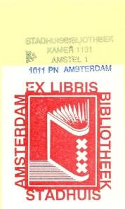 Ex libris Stadhuisbibliotheek Amsterdam