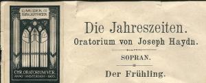 Muziekbibliotheek Chr. Oratoriumvereniging Amsterdam