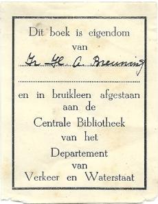 Centrale Bibliotheek van het Departement van Verkeer en Waterstaat, Den Haag