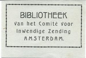 Idem exlibris BvCIZ, Amsterdam