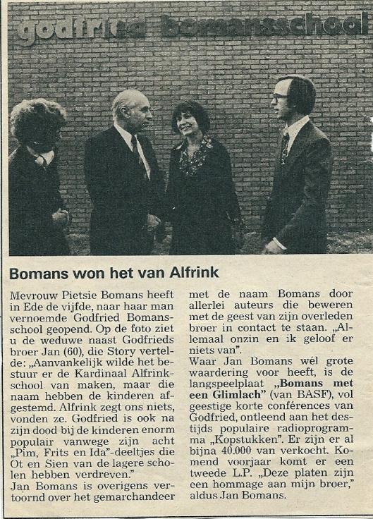 Bomansschool Ede. Uit Story, 26 december 1975
