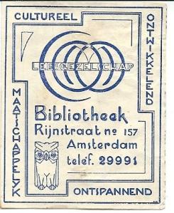 Leesgezelschap bibliotheek Rijnstraat 157, Amsterdam