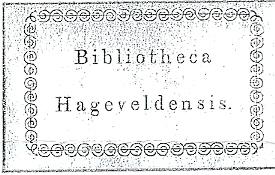 Bibliotheca Hageveldensis; kleinseminarie Hageveld, Heemstede