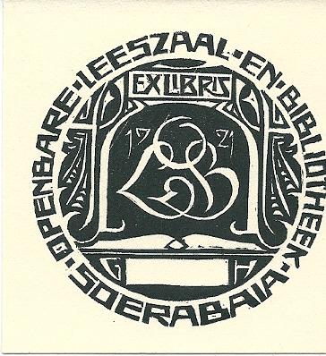 Ex libris openbare leeszaal en bibliotheek Soerabaja