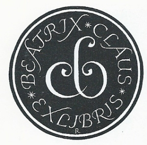 Exlibris Beatrix en Claus; door P.G.Rueter, 1968