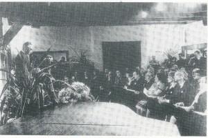 Opening van cultureel centrum 't Oude Slot op 14 januari 1978 door wethouder C.Sprangers