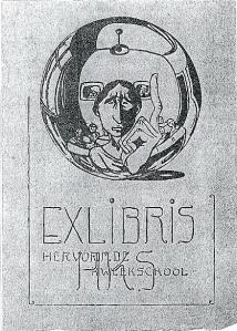 Exlibris Hervormde Kweekschool (plaats onbekend)