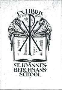 Exlibris St.Joannes Berchmansschool, Eindhoven (?)