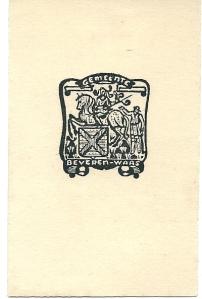 Ex libris van bibliotheek gemeente Beveren