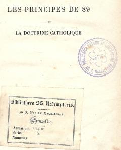 Bibliotheek van klooster Redemptoristen in Brussel