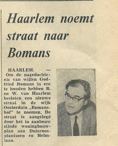 Uit het Haarlems Dagblad van 23 augustus 1973