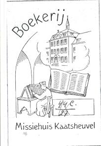 Exlibris boekerij Missiehuis Kaatsheuvel