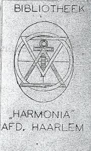 Exlibris bibliotheek 'Harmonia', afdeling Haarlem