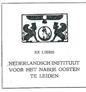 Nederlandsch Instituut voor het Nabije Oosten in Leiden