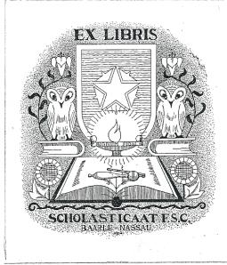 Ex libris Scholasticaat F.S.C., Baarle Nassau