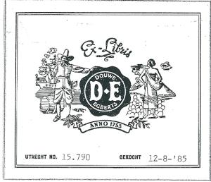 Ex libris Douwe Egberts, Utrecht