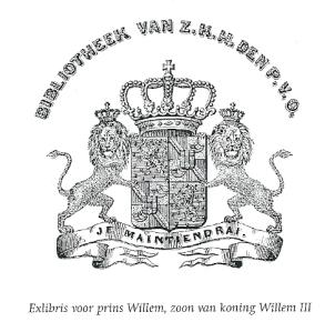 Exlibris prins Willem, zoon van koning Willem III