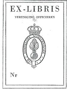 Exlibris van Vereniging Officieren