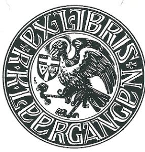 Ex libris R.K.Leergangen Tilburg; ontworpen door F. Mandos, 1939