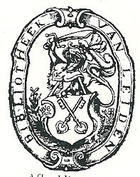 Ex libris bibliotheek van de gemeente Leiden