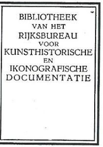Bibliotheek van het Rijksbureau voor Kunsthistorische en Ikonografische Documentatie, Den Haag