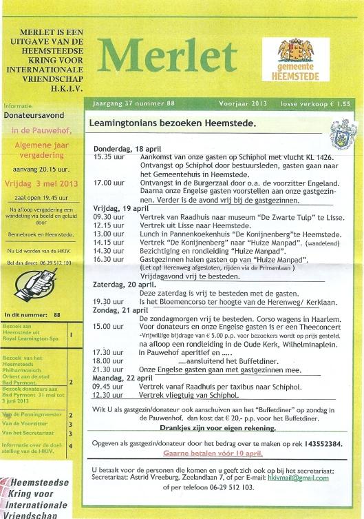 Merlet, nr. 88, voorjaar 2013 (1)