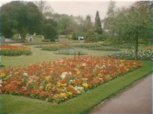Heemsteedse bloemen bloei(d)en in Jephson Garden