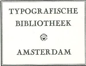 Typografische Bibliotheek Amsterdam, vh Tetterode