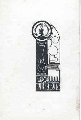 Ex libris R.K. Jongensweeshuis Tilburg; door Harrie Corvers (coll. Ronald Peeters)
