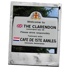 winning between 'The Clarendon' in Leamington, UK, and pub 'De 1ste Aanleg' Heemstede, The Netherlands