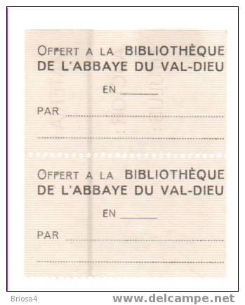 Exlibris kloosterbibliotheek in Val-Dieu