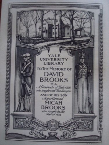 Ex libris Yale University library, New Haven
