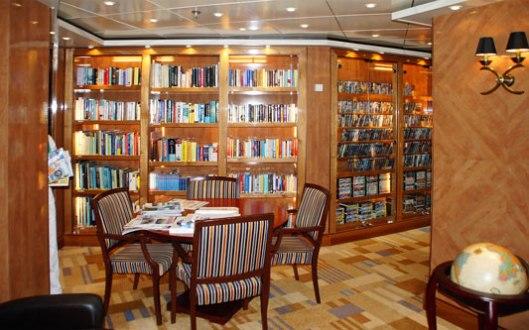 Bibliotheek op cruiseschip Crystal Symphony