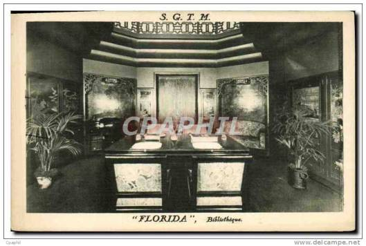 Paquebot SGTH 'Florida', bibliothèque